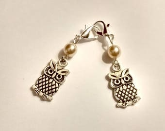 Owl Pearl Hearing Aid Charms