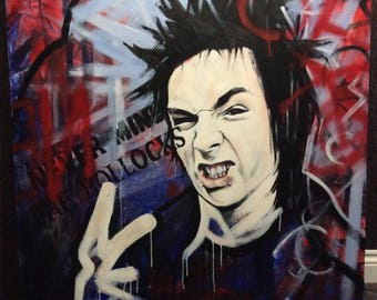sid vicious original art portrait