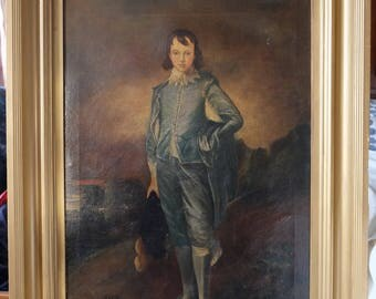 Original The Blue Boy oil on canvas after Thomas Gainsborough