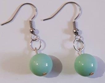 Simply Mint Drop Earrings