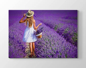 The Girl, Lavender Printing On Canvas, Wall Art, Canvas Prints, Room Deco, Beautiful View, Wonder, Garden