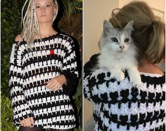Cat in Stitches Sweater