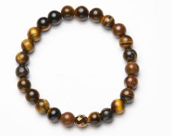 Mens-Women's bracelet * Tiger Eye Classic Xsmall */mens-Womens bracelet * Tiger Eye Classic Xsmall *