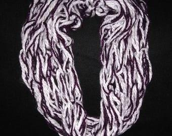 Wide single loop infinity scarf