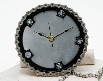 "Bicycle Chain Ring Clock (5.5"") - wall clock"