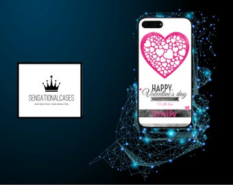 Personalised Valentines Day Love Heart Name Phone Case for Apple Iphone 5 6 6s 7 8 10