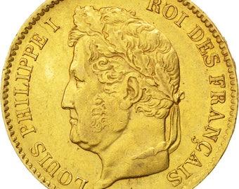 france louis-philippe 40 francs 1832 paris km #747.1 au(55-58) gold...