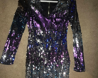 sparkly long-sleeve dress