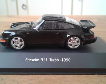 Porsche 911 TURBO-1990 scale model 1:43 collectors collection Item