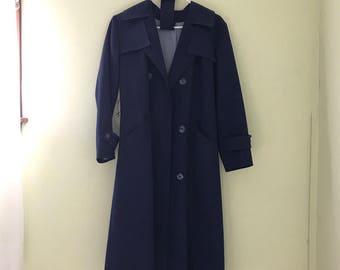 Women's Navy Blue Trenchcoat
