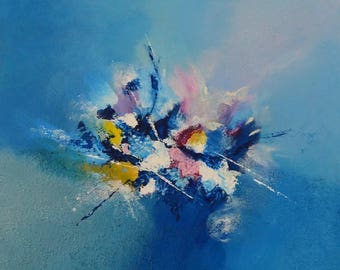 Original abstract painting. Cool