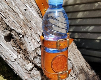 Leather Water Bottle Belt Holster. Leather Bottle Carrier. Leather Drink Holder. Water Bottle Holsters. Leather Flask Holder