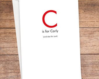 C is For... Card