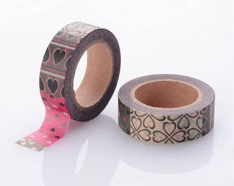 Heart/Valentines Washi Tape - 15mm x 10 Meters - #SW108