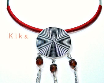 Necklace made of steel