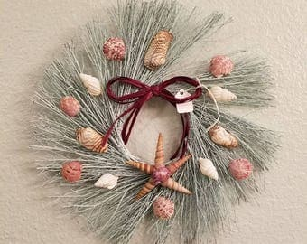 Twig and shell wreath