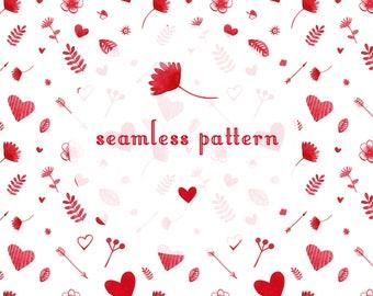 seamless Valentine pattern texture ornament