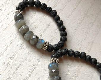 Labradorite Diffuser Bracelet