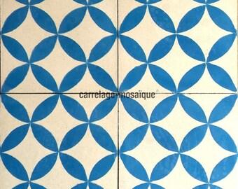 Cement Sampa blue tiles