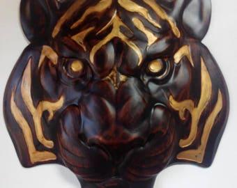 Tiger Head Carving