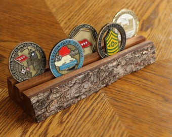 Rustic Challenge Coin Display