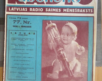 RADIO magazine with Pilips Advert from Latvia  y 1939