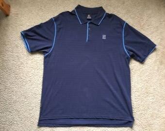 Men's Vintage 90s Nike Navy Blue Polo Shirt Size Xl