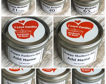 8.8oz Gift Candle in a Tin 88mm x 55mm