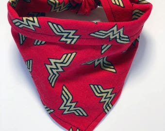 Wonder Pet | Wonder Woman Logo Pet Bandana | Dog Bandana | Cat Bandana |