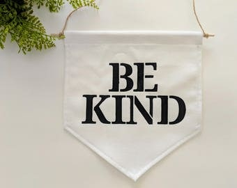 Be Kind Wall Banner