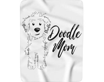 Doodle Mom - Sherpa Fleece Blanket - Doodle Dog Gift, Labradoodle, Bernedoodpe, GoldenDoodle