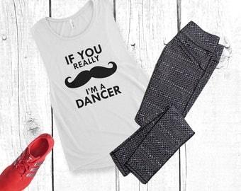 Mustache Dancer- Ladies' Muscle Tank - Dancer