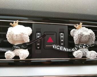 Cute Car Decal Bear Outlet Air Freshener,Elegant Girl Car Decal Vent Clip Diffuse, Car Fragrance