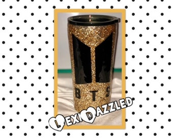 Glitter Tumbler//Stainless Steel Tumbler//Insulated Double Wall Tumbler
