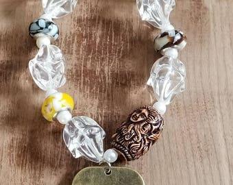 Stretch charm bracelet