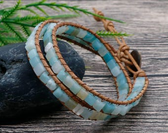 Knitted Gem Bracelet