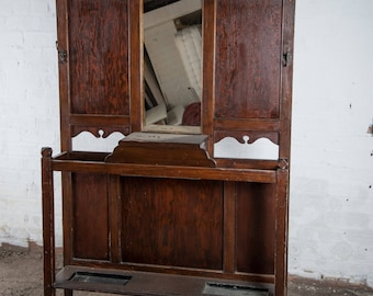 Victorian wash stand with marble top