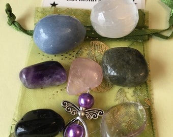 HOUSE PROTECTION CRYSTALS. Crystal set of 8 crystals to protect your home.