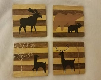 Woodland Creatures Coaster Set