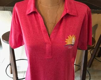 Pink Sunshine Hippie Collared Shirt