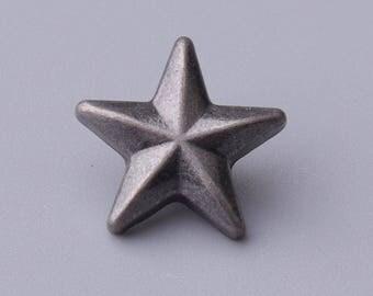 star button 10pcs 13mm coat button light black shank button for children garment