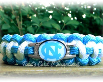 North Carolina Tar Heels Paracord Bracelet
