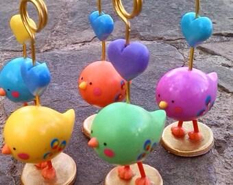 Decoration of birds, handmade, polymer clay, crafts