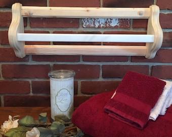 Pine Towel Racks with Corian hanging bar