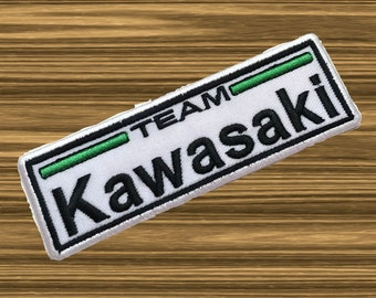 Kawasaki Patch Sew Iron On Patch Embroidered Racing Sport MOTO GP