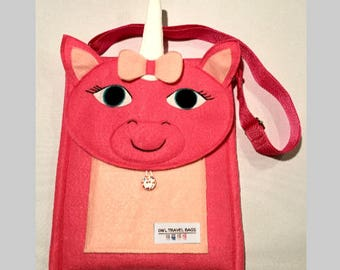 Pink Unicorn Travel Bag