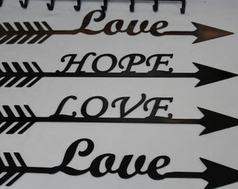 CNC love & hope arrows
