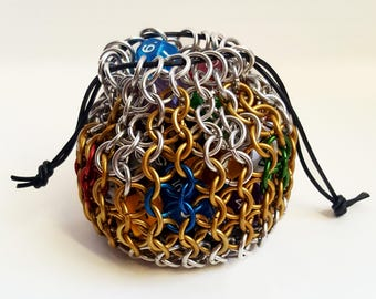 "Chainmaille Dice Bag - ""King's Ransom"""