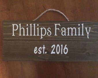 Family, Engagement, Wedding, Bridal, Name, Birthday Sign