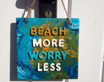 Beach Quote, Unique gift, Ooh you are crafty shop, Ceramic tile Inspirational Quote,